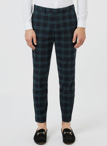 Topman Cropped Skinny Fit Trouser