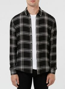 Topman Long Sleeve Checked Shirt