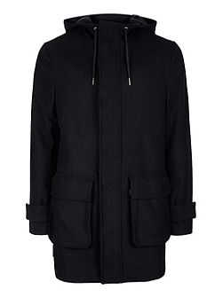Navy Wool Parka