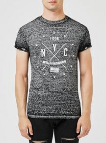 Topman Black Williamsberg T-Shirt