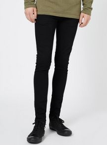 Topman Black Spray on Jeans