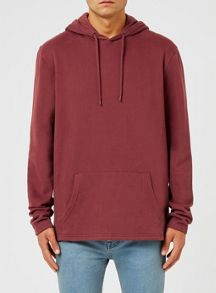 Topman Red Fixed Hem Oversized Hoodie