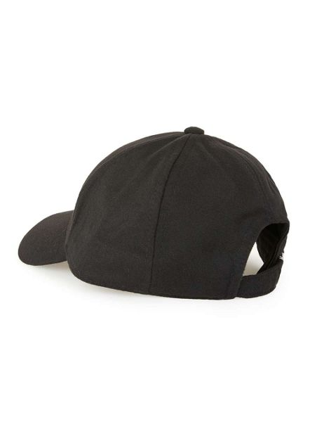 Topman Black Fleece Curved Peak Cap