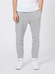 Topman Grey Turn Up Hem Joggers