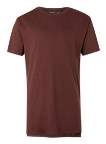 Topman Chocolate brown slub T-Shirt