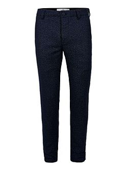 Navy Wool Blend Skinny Chinos