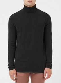Topman Longline Roll Neck Jumper