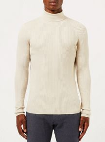 Topman Rib Roll Neck Jumper