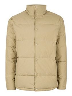 Camel Wax Puffer Jacket