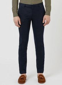 Topman Stretch Twill Ultra Skinny Fit Trousers