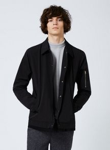 Topman Black Coach Jacket