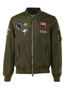 Topman Navy Badge MA1 Bomber Jacket