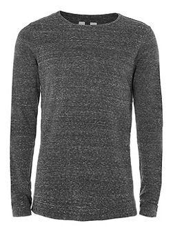 Longline Split Hem Crew Neck Jumper