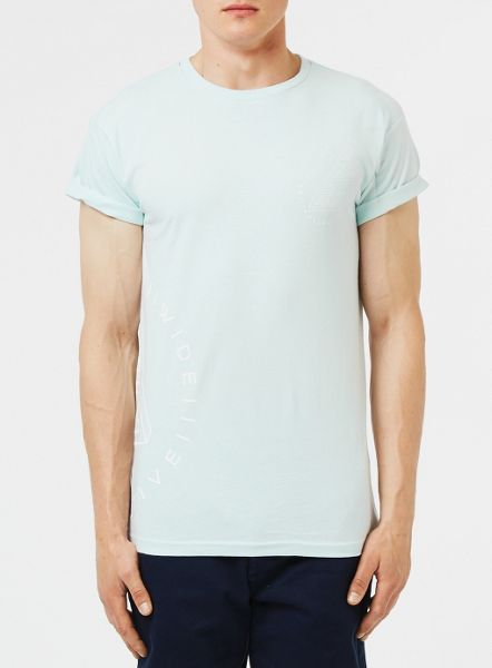 Topman Light blue Worldide T-Shirt