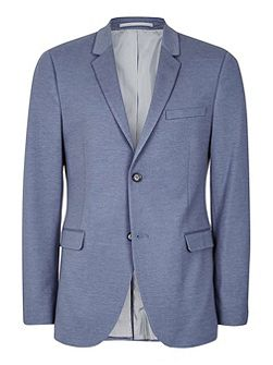 Light Blue Marl Jersey Skinny Fit Blazer