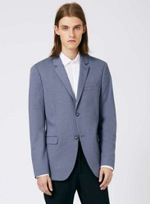 Topman Light Blue Marl Jersey Skinny Fit Blazer