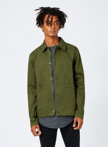 Topman Olive Green Smart Coach