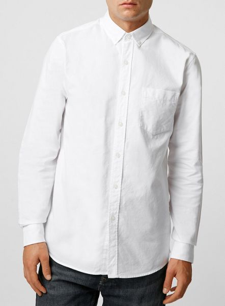 Topman Long Sleeve Oxford shirt