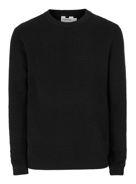 Topman Ripple Crew Neck Jumper