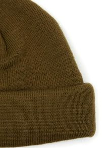 Topman Khaki Mini Fit Beanie Hat
