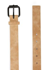 Topman Washed Camel Faux Leather belt