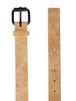 Washed Camel Faux Leather belt