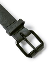 Topman Washed Black Faux Leather Belt