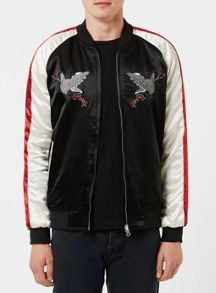 Topman Embroidered Reversible Souvenir Jacket
