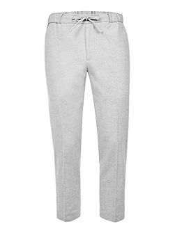 Light Grey Wool Blend Smart Joggers