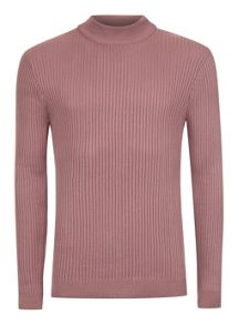 Topman Ribbed Turtle Neck Jumper