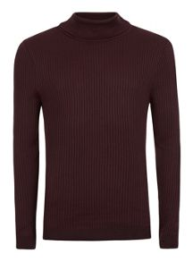 Topman Ribbed Roll Neck Jumper