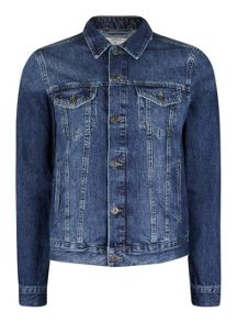 Topman Indigo Wash Denim Jacket