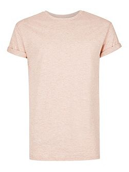 Slub Textured Muscle Fit Roller T-Shirt