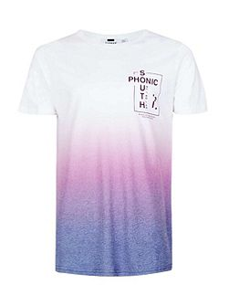 Purple fade printed t-shirt