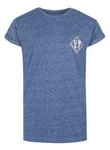 Topman Blue Front And Back Print T-Shirt