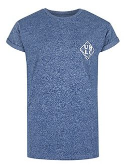Blue Front And Back Print T-Shirt