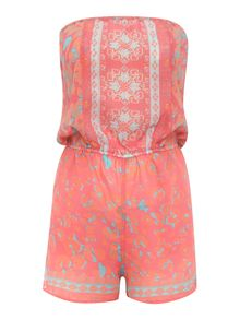 Lipsy Strapless Floral Print Michelle Keegan Playsuit
