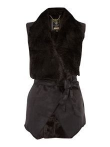 Sleeveless Fur Bonded Gilet