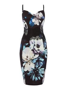 Lipsy Floral Bodycon Midi Dress