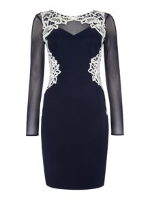 Lipsy Michelle Keegan Lace Detail Bodycon Dress