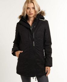 Hooded super wind parka