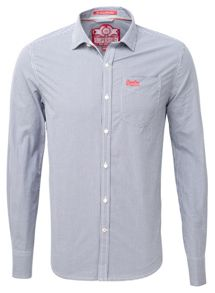Cut collar shirt