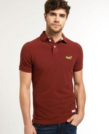 Classic Pique Plain Crew Neck Polo Shirt