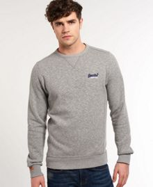 Orange Label Plain Crew Neck Pull Over Jumpers