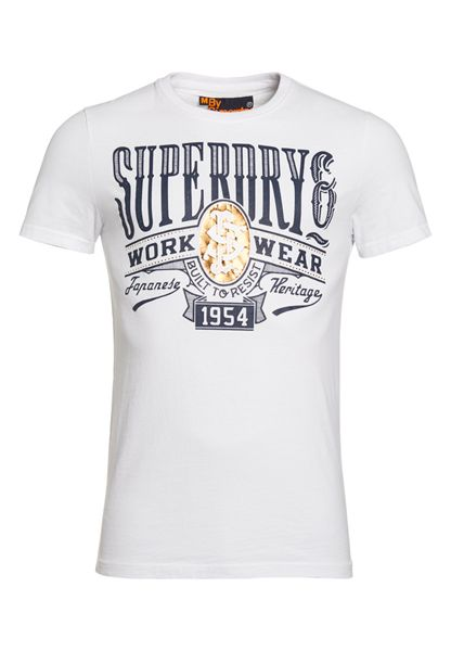 Superdry Bulit Plain Crew Neck Regular Fit T-Shirt