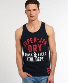 Superdry Track Plain Crew Neck Regular Fit Vest