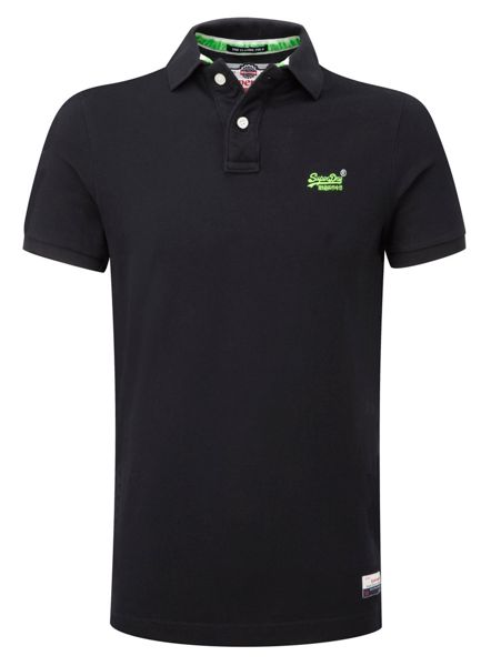 Superdry Classic Pique Plain Crew Neck Polo Shirt