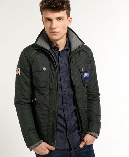 Superdry Nylon Casual Full Zip Quilted Jacket