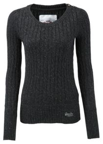 Croyde cable crew neck jumper