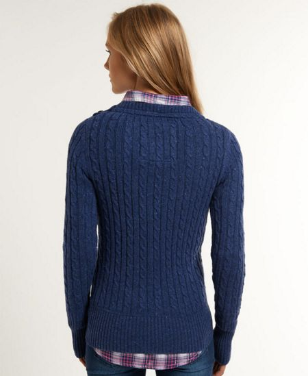 Superdry Croyde cable crew neck jumper
